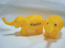 factory making yellow elephant money box