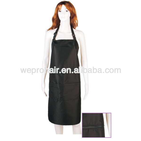 Wholesale customized hair salon aprons hair dressing aprons with zippers and pockets