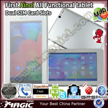 7 inch tablet pc combined with mobile phone 3g function