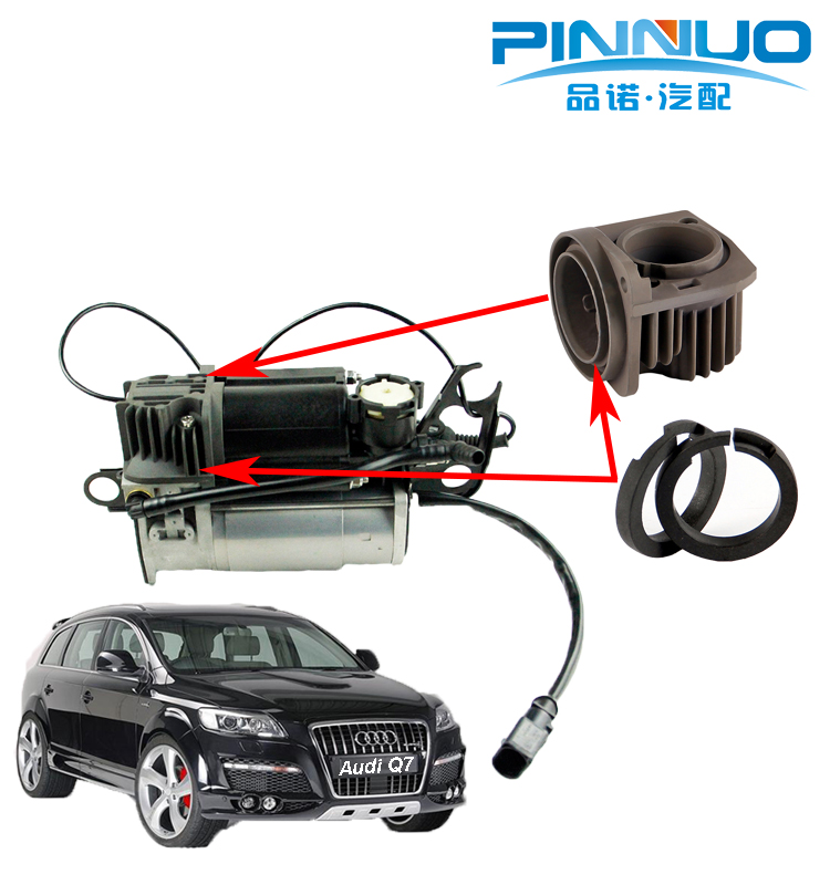 Air Suspension Compressor kits Cylinder Cover and Piston Ring for Q7 Cayenne Touareg 4L0698007