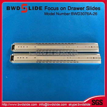 BWD3076A 26 42MM Slide Dining Table Extension Hardware Cabinet Sliding Drawer Guides For