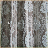 PASS NFPA 701 TEST woven wide width jacquard blackout curtain fabric