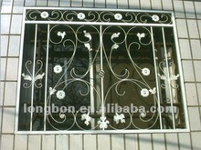 Decorative wrought iron window guard design