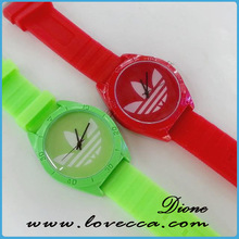 cheap silicon rubber colorful watch