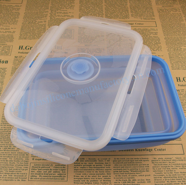 Eco friendly lunch bags/one compartment silicone container/soft silicone box