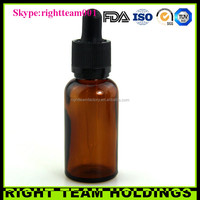 paper boxes e cig amber glass bottle 30 ml glass dropper bottle e liquid bottle with childproof dropper for e-juice