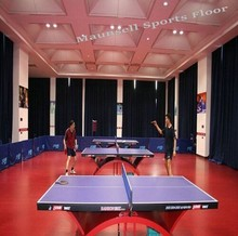 wood/red table tennis flooring PVC sports floor pice made in China