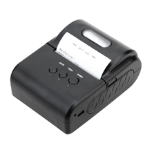 Mini Portable 58mm USB Bluetooth Thermal Printer Receipt Printer with Leather Case for Windows Android POS