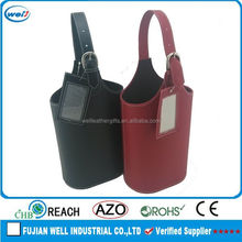 Black Brown PU leather bag in box wine maker