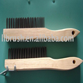 woden handle stainless steel wire brush