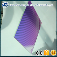 colorful rainbow tempered laminated decorative glass