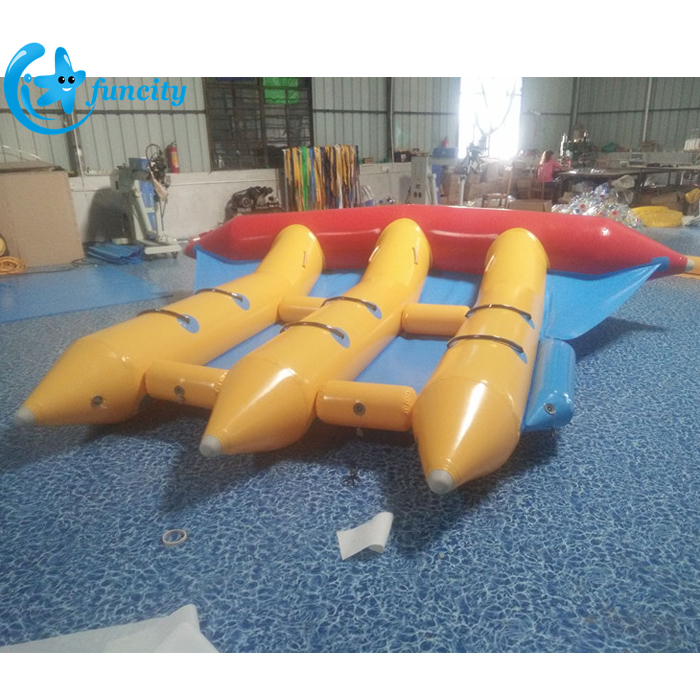 0.9mm PVC Tarpaulin Inflatable Flying Towable , Inflatable Fly Fish For Water Sport Game