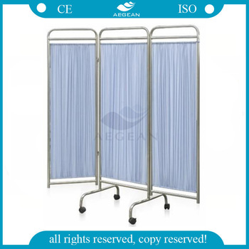AG-SC002 with wheels stainless steel frame medical screen folding