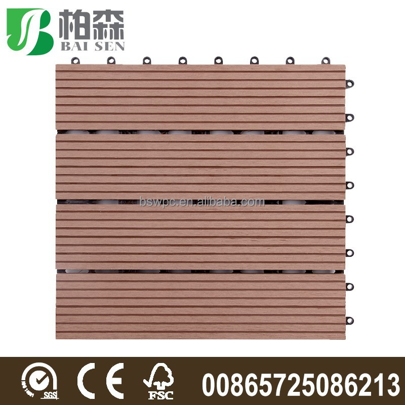 Garden Swimming pool decoration DIY flooring 300*300*22MM / WPC interlocking composite decking tiles
