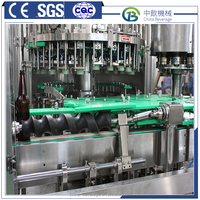 High quality automatic glass bottled syrup water filling line made in China