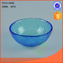 blue color glass rice bowl dinnerware fancy tableware bowl