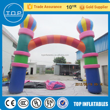 TOP service cheap inflatable sale outdoor advertising stands balloon arch for kids and adults