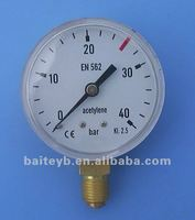 Best selling product in europe bourdon tube 700 bar pressure gauge