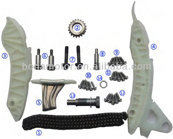 For PEUGEOT 1598CC EP3,EP6 02-07 timing chain kits