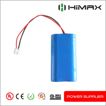 1S2P 3.7v icr 18650 lithium rechargeable battery pack