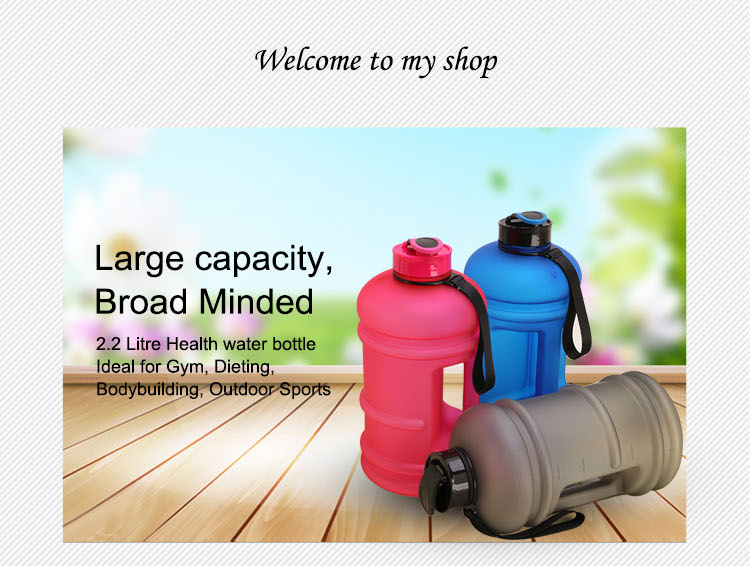 low moq hot sale BPA FREE 2.2l big capacity body building plastic water jug