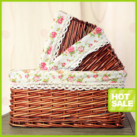 handmade nature wicker basket for picnic