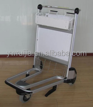 RJ Series High Quality Stainless steel Airport Trolley, Airport Luggage Cart, Airport Baggage Trolley