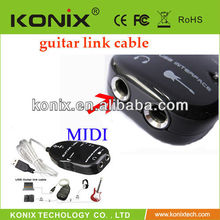 Guitar Recording USB Cable Guitar To USB Port Link Cable for PC/MAC/LAPTOP