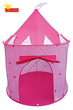 Princess Castle Fairy House Girls Pink Play Tent for children