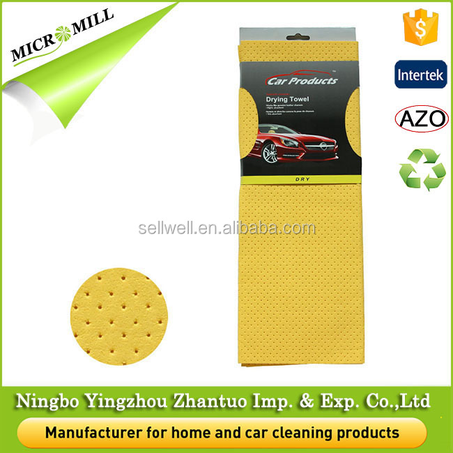 Synthetic chamois car cleaning cloth, car microfiber drying towel