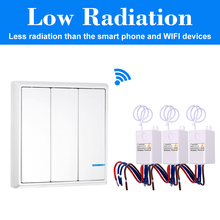 Wireless remote control Electrical Outlet automatic light switch 3 gangs switch with 3 receivers for household appliances