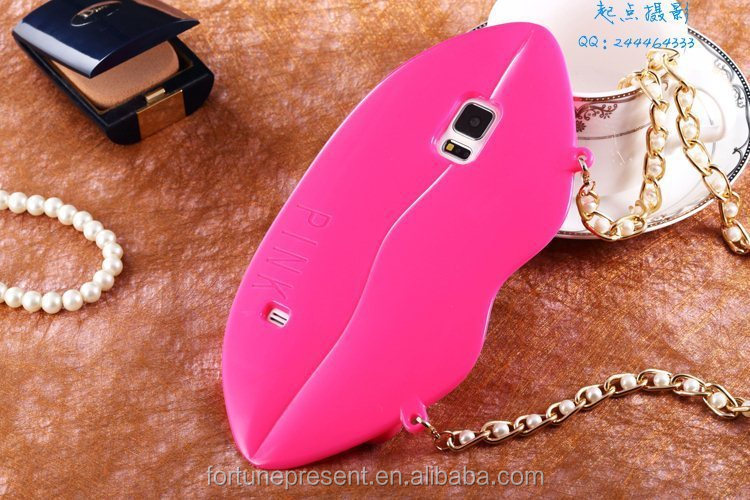 New design Lip Style Fancy Silicone Cell Phone Case for iPhone 5s,silicone mobile phone case,phone cover for Samsung I9500