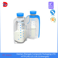 manufacture food grade spout bag plastic bag for breast milk