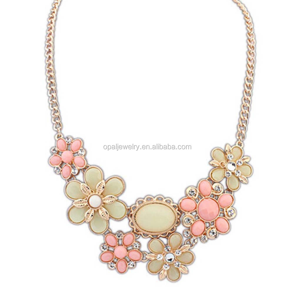 China Factory Direct Selling CZ Setted Rose Gold Plated Necklace Jewelry