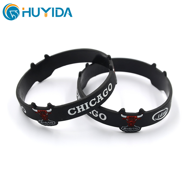 cheap pure plain custom silicone bracelet