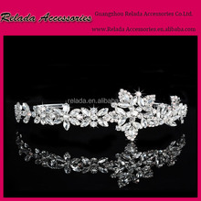New Arrival Bridal weddingJewelry Type hair accessory wedding clear crystal cheap beauty crowns pageant tiaras for party girls