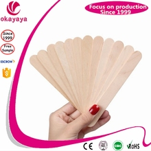 Unhair Waxing Strip Wooden Spatulas for Beauty Salon and SpaTanning