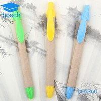 ECO friendly cheap paper plastic ball pen Recycled ballpoint Pen