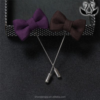 Occident Fashion Handmade Man Lapel Pin Fabric Bow Brooch