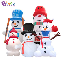 Factory direct sale customized inflatable snowman air sealed snow globe with christmas led light