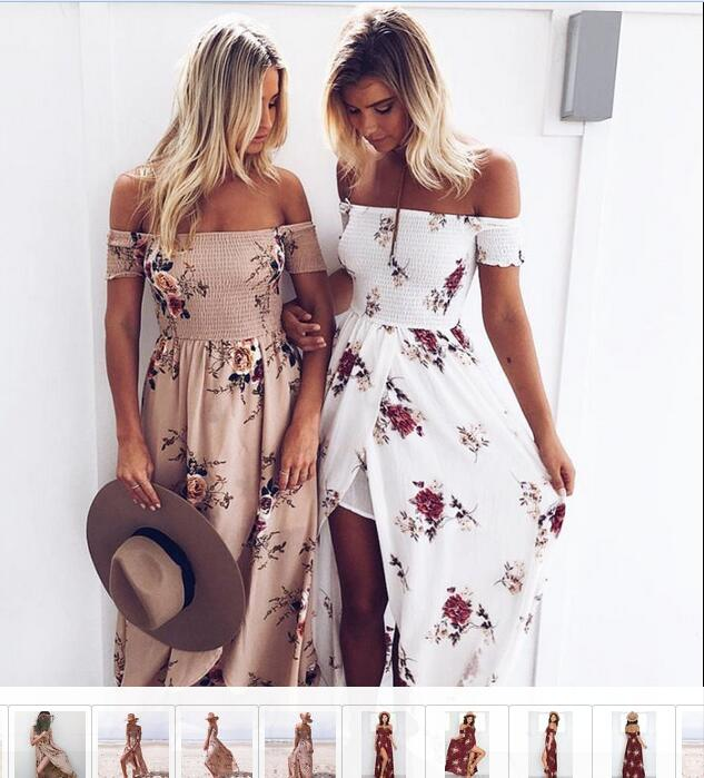 Walson Boho style women Off shoulder beach long summer Printed Floral maxi dress