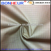 100% nylon 380T ripstop breathable pu coated fabric for skiwear