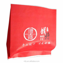 Pinch bottom custom made greaseproof paper bag for fried chicken