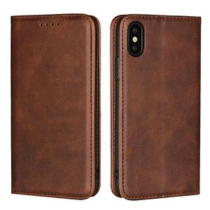 Hot Selling Genuine Cowhide Leather Wallet Phone Case For iPhone Xr