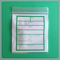 Factory price waterproof safety grade mini size ziplock plastic bags for medicine
