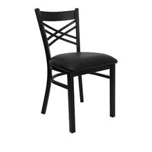 T159 Starbuck Steel table chair with PVC chair cover