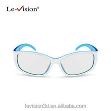 Plastic frame passive cinema circular 3D glasses make polarized 3D film glasses for real D and masterimage system