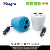 SUPER POWER 5V 4.8A 6.8A with safe and high efficiency and CE FCC 4USB car charger