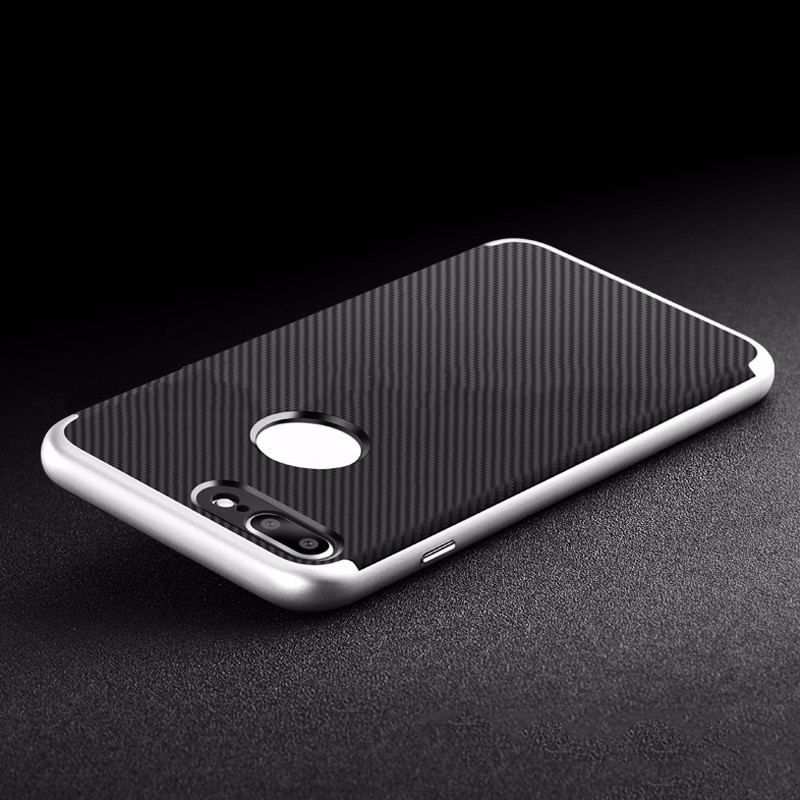 new arrival strong carbon fiber back case for iphone 7