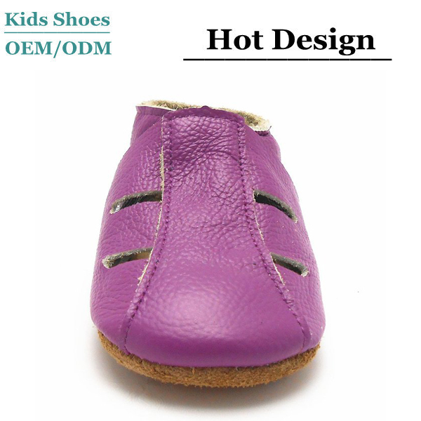 Breathable soft sole toddler indoor shoes leather baby loafers